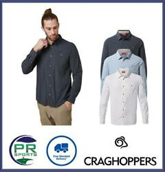 Brand New 2021 Craghoppers Mens Nosilife Nuoro Long Sleeved Shirt