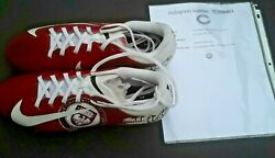 Pat O'donnell Chicago Bears Game Used + Signed Mycause Football Cleats
