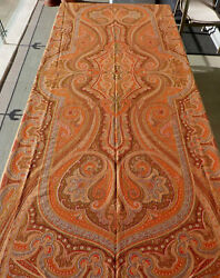 Huge 3m Antique Handwoven Paisley Shawl C1850 A/f Tablecloth Cover Throw 10 Ft