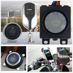 Motorcycle Double Alarm Anti theft Security System With Keyless Remote Control