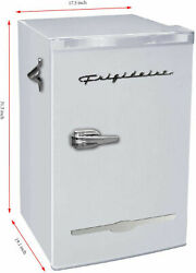Retro Mini Fridge 3.2 Cu. Ft. Compact Office Dorm Refrigerator Freezer Moonbeam