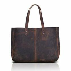 Leather Shoulder Bag Tote for Women Purse 18.5 Inch Buffalo Distressed Tan $99.21