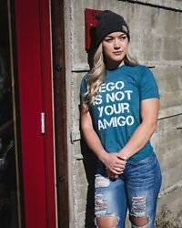 Legion Apparel - Ego Is Not Your Amigo Athletic Unisex T-shirt Teal Color