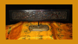 Wonderful Rare 1500s Ming Dynasty Old Antique Chinese Wooden Luckydouble Lions