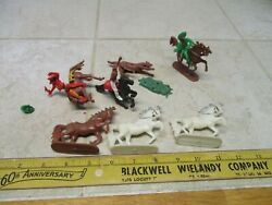 Vtg Lot Cowboys Indians W. Germany Timpo Britains Ko Plastic Toy Soldiers Figure