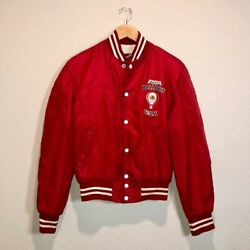 Men's Pacific Sw Airlines Vintage Balloon Team Red Jacket Sz Sm