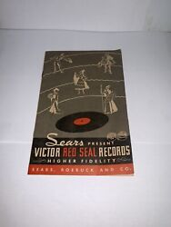 Vintage Original 1938 Sears Roebuck And Co. Victor Red Seal Records Catalog Rare