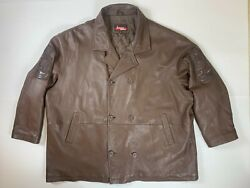 Vintage Johnny Blaze Dragon Soft Leather Jacket Size 6xl Big And Tall Excellent