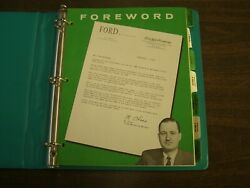 Oem 1960 Ford Dealer Facts Book Truck F100 F250 F350 Nos