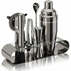 The Complete Bartender Kit 11 Piece Cocktail Shaker Set With Stand Great To Make