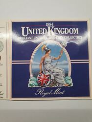 Rare Uk One Pound 1984 Unside Down Error Brilliant Uncirculated Coin Collection