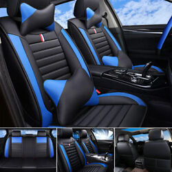 Luxury Pu Leather Car Truck Seat Covers Frontandrear Set For 5-seats Car Suv Truck
