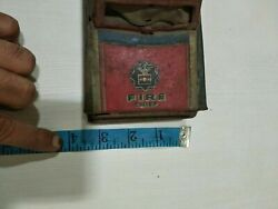 Antique Vintage Tin Toy Rare Old Fire Chief Police Patrol Car Vehicle