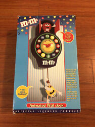 Mandm's Animated Pendulum Cookoo Wall Clock W/ Yellow And Red - New Open Box Rare