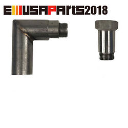 90 Degree O2 Oxygen Sensor Angled Extender Spacer 02 Bung Extension M18 X1.5