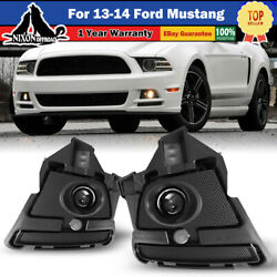 For 13-14 Ford Mustang Fog Lights Assembly Projector Clear Lamp Wiring Kit Pair
