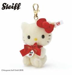 Steiff Sanrio Hello Kitty 45th Anniversary Key Ring Limited Item From Japan