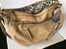 NWT Jessica Simpson Lucille Satchel Handbag Natural $108.00 $49.00