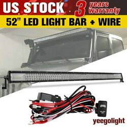 52inch 700w Led Light Bar Driving Offroad Combo Pod Fog Lamp For Jeep Suv+wire