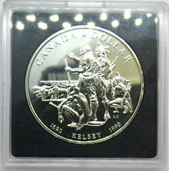 1690 - 1990 Canada Silver 1 One Dollar Coin Kelsey