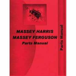 Parts Manual - 20 20k Compatible With Massey Harris 20 20