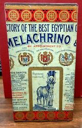 Egyptian Cigarette Tin M. Melachrino And Co Great Graphics
