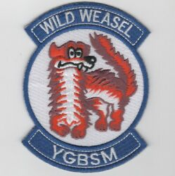 4 Usaf Air Force Wild Weasel Ygbsm Blue Embroidered Jacket Patch
