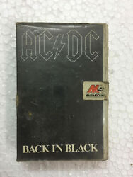 Ac Dc Back In Black Clamshell Rare Cassette Tape Mil India Indian