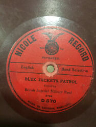 British Imperial Military Band March Blue Jacket Patrol Rare 78rpm Record 10 G+