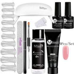 9pcs/set Mtssii Poly Extension Uv Gel Kits Quick Building Tips W/ Nail Dryer 3