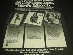 Windy City Steve March And Isis Don't Forget The Names 1977 Promo Poster Ad Mint