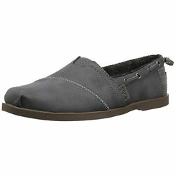 Skechers Bobs Womenand039s Chill Luxe-buttoned Up Ballet Flat Grey Size10 M Us