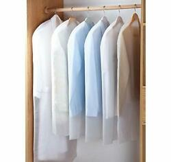 Hanging Garment Bag Lightweight Suit Bags Dust-proof Set Of 5 24and039and039 X 51.1and039and039