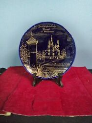 Cobalt Blue 8 In Collectors Plate Of Kappl Sanctuary Of The Holy Trinity