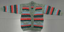 Men Pure Wool Xl Coogi Ugly Christmas Sweater Green Red Button Down Cardigan