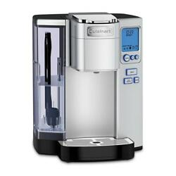 Programmable Silver Single Serve Coffee Maker With Clock, Detachable Water Tank