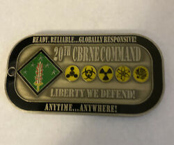 20th Cbrne Presented By Command Command Team For Excellence Coin R1