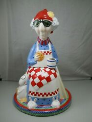 Hallmark 90s Maxine Old Lady Wagner Ceramic Cookie Jar Not Just For Breakfast