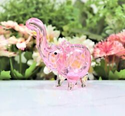 4 Pink Elephant Collectible Tobacco Glass Pipe Smoking Herb Bowl Hand Pipes