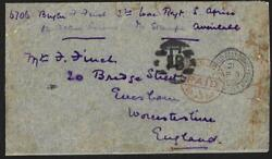 Uk Gb 1900 South Africa Field Post Office British Army Cancel And London Paid In