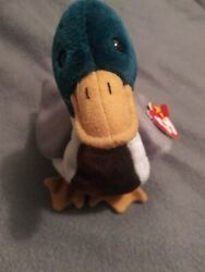 Retired Ty Beanie Baby Jake The Mallard Drake Duck 1997 Rare Mistakes On Tag