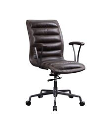 Big Brown Faux Leather Swivel Adjustable Leatherette Executive Office Chair