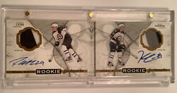 2016-17 The Cup Laine Connor Dual Rookie Bookmarks Winnipeg Autos /18 Booklet