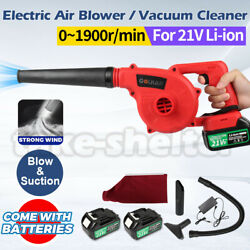 Cordless Electric Battery Computer Garden Air Dust Leaf Blower Vacuum Cleaner Us