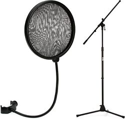 Neumann Ps 20 A Pop Screen + On-stage Stands Ms7701b Euro Boom Microphone Stand