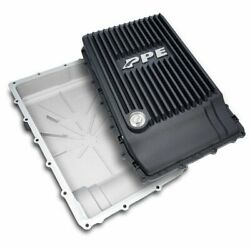 Ppe Black Aluminum Transmission Pan 17-19 Ford F-150 With 10r80 Transmission