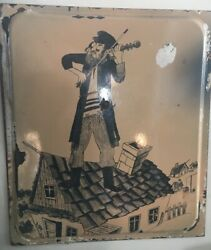 Beautiful Rare Porcelain Enamel Sign Fiddler On The Roof Size 211/2 -19''inches