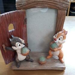 Disney Chip And Dale Photo Picture Frame Photo Stand Figure Figurine Doll