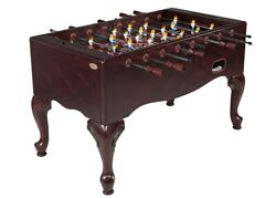 Furniture Style Foosball Soccer Tablequeen Anne Legmahoganygame Roomman Cave
