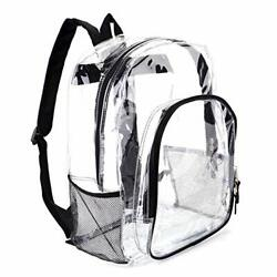 Heavy Duty Transparent Clear Backpack See Through Backpacks for $22.32